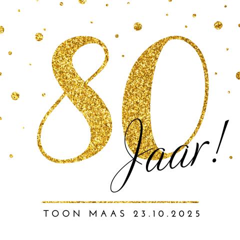 Ongekend Uitnodiging 80 jaar verjaardag - MadeforMoments HO-15