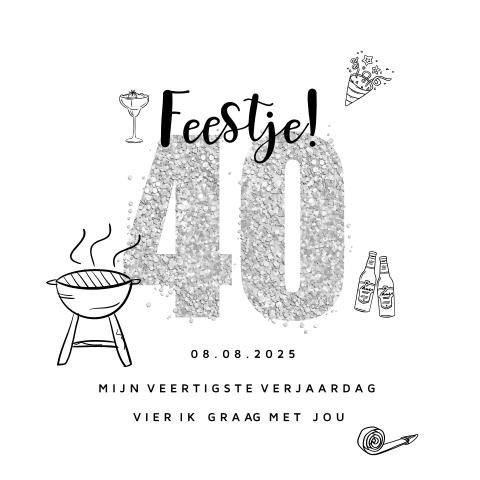 Bedwelming Verjaardag 40 jaar man bbq feest #UE21