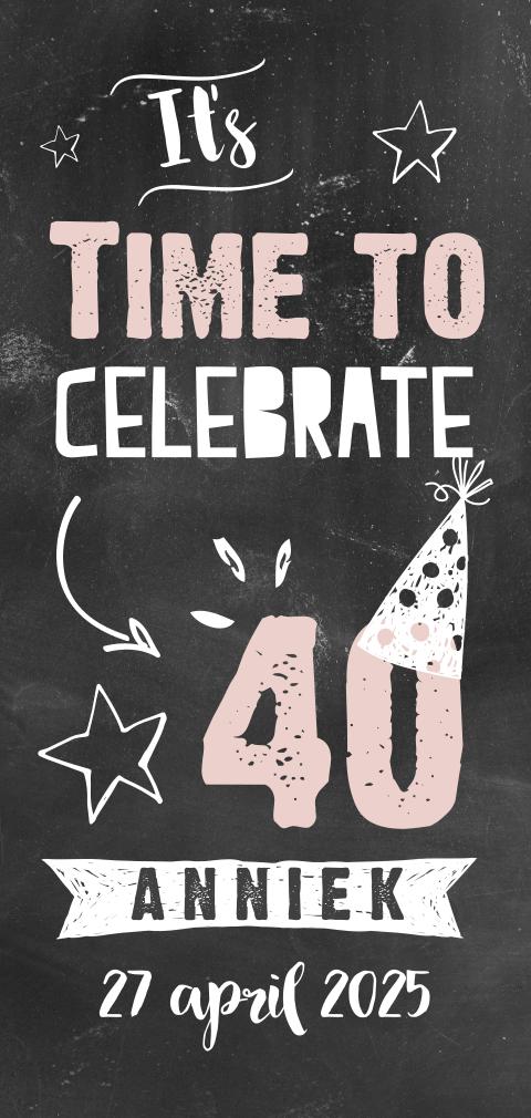 Wonderbaarlijk Uitnodiging 40 jaar verjaardag   MadeforMoments YG-34