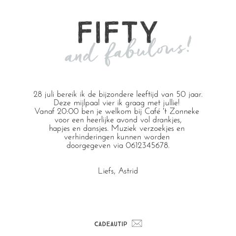 Top Vrolijke uitnodiging voor een 50e verjaardag met confetti @YZ53