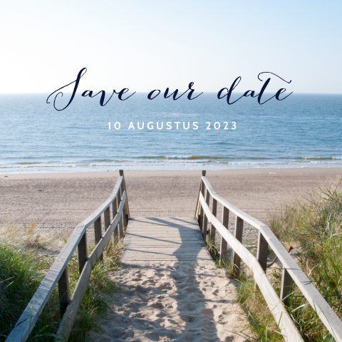 Save the Date kaart beach wedding