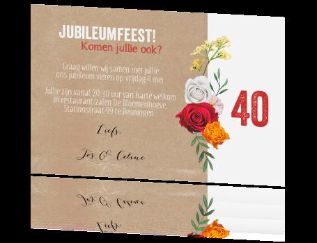 40 jarig jubileum kaart 40 Jaar Jubileum Kaart   ARCHIDEV 40 jarig jubileum kaart