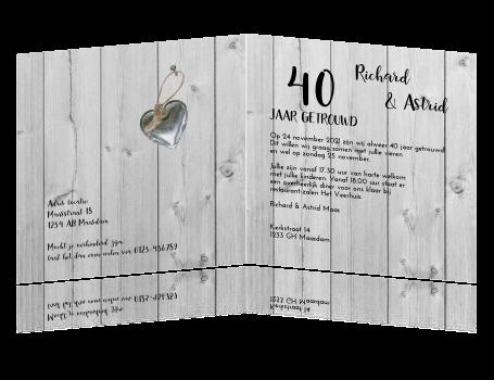 kaarten 40 jarig huwelijksfeest Kaarten Voor 40 Jarig Huwelijk   ARCHIDEV kaarten 40 jarig huwelijksfeest