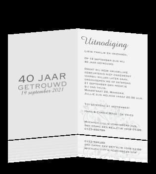 tekst uitnodiging 60 jarig huwelijk Voorbeeld Kaart 40 Jaar Getrouwd   ARCHIDEV tekst uitnodiging 60 jarig huwelijk