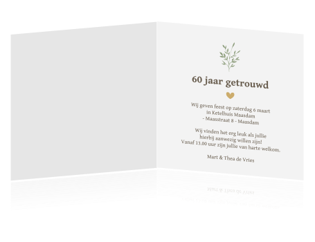 60 jaar getrouwd tekst kaart Jubileum uitnodiging 60 jaar 60 jaar getrouwd tekst kaart