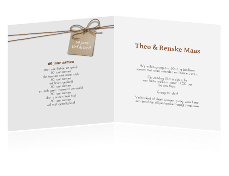tekst uitnodiging 60 jarig huwelijk Tekst Kaart Huwelijk Uitnodiging   ARCHIDEV tekst uitnodiging 60 jarig huwelijk
