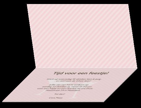 Een originele uitnodigingskaart verjaardag vijftig jaar met mooie ...: hipdesign.nl/uitnodiging-maken/uitnodigingen-verjaardag/kaart...