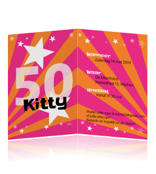 ... Uitnodiging > Uitnodiging verjaardag > Kekke uitnodiging feest 50 jaar: hipdesign.nl/uitnodiging-maken/uitnodigingen-verjaardag/uitnodiging...