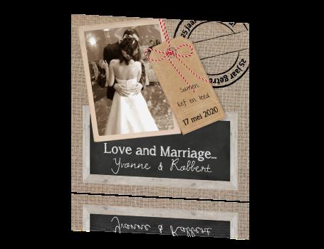 kaart 25 jarig huwelijk Stoere kaart 25 jaar getrouwd in vintage stijl kaart 25 jarig huwelijk