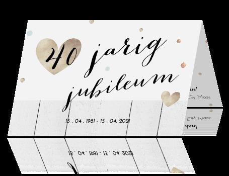 uitnodiging 40 jaar jubileum Jubileumkaart 40 jarige bruiloft uitnodiging 40 jaar jubileum