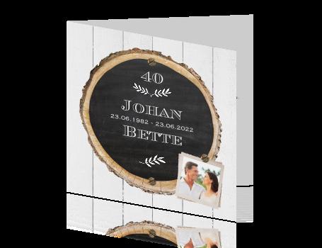 Magnifiek Originele uitnodiging voor 40 jarige bruiloft #VP85