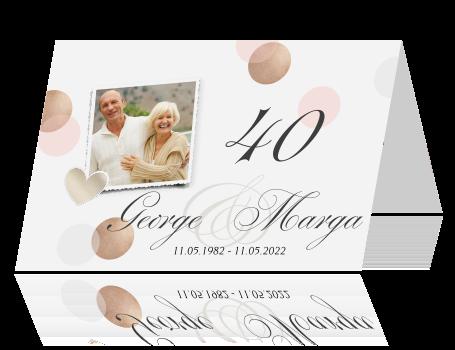huwelijkskaarten 40 jaar getrouwd Uitnodiging huwelijksfeest 40 jaar getrouwd huwelijkskaarten 40 jaar getrouwd