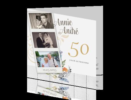 uitnodiging 50 jaar getrouwd Uitnodiging met polaroid huwelijksfeest 50 jaar getrouwd uitnodiging 50 jaar getrouwd