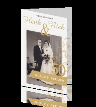 kaarten 50 jarig huwelijksfeest Prachtige kaart uitnodiging 50 jarig huwelijksfeest kaarten 50 jarig huwelijksfeest