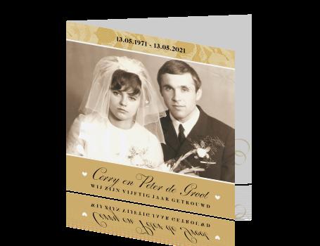 Fonkelnieuw Prachtige uitnodiging voor jullie gouden bruiloft CG-99