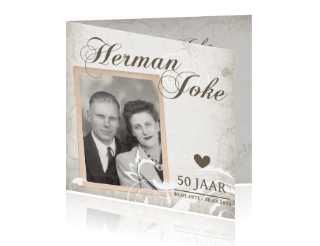 Top Originele uitnodiging jubileum huwelijk 50 jaar &EN55
