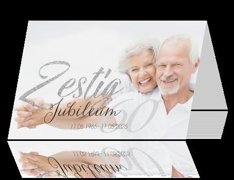 uitnodigingskaarten 60 jaar getrouwd Uitnodiging diamanten bruiloft met foto uitnodigingskaarten 60 jaar getrouwd