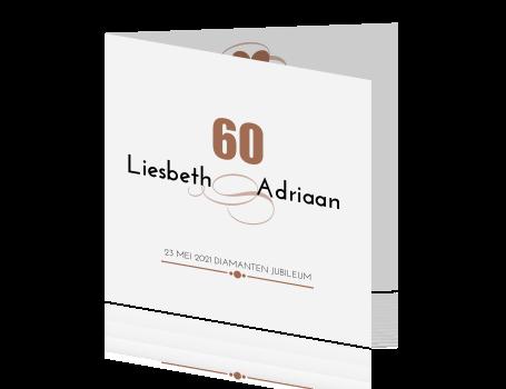 60 jaar getrouwd uitnodiging tekst Klassieke uitnodiging 60 jaar getrouwd 60 jaar getrouwd uitnodiging tekst