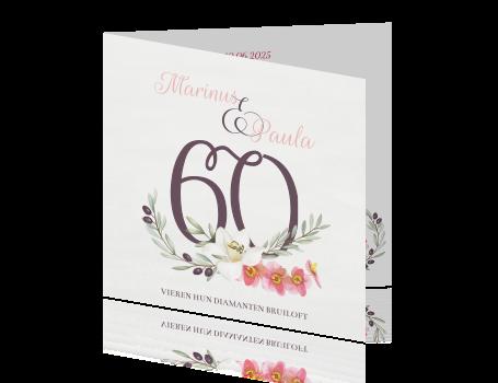 60 jaar getrouwd jubileum Uitnodiging zestig jaar huwelijk 60 jaar getrouwd jubileum