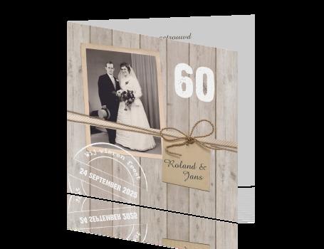 60 jarig huwelijk uitnodiging Fotokaart 60 jarig huwelijksjubileum 60 jarig huwelijk uitnodiging