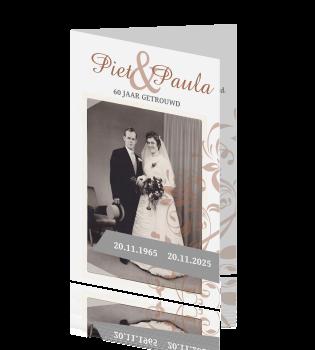 60 jarig huwelijk uitnodiging Elegante kaart uitnodiging 60 jarig huwelijksfeest 60 jarig huwelijk uitnodiging