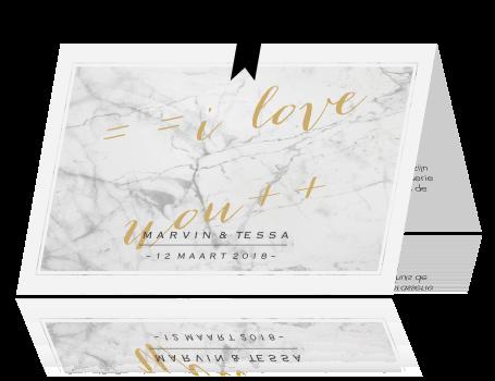 Luxe trouwkaart met mooi marmer - Luxe marmer ...