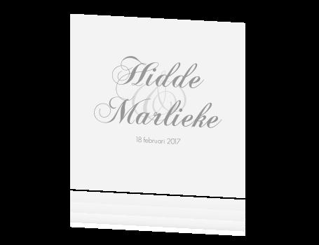 Uitzonderlijk Klassieke trouwkaart met sierlijk lettertype in grijs @WL06