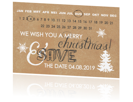 Hippe Save the date kerstkaart