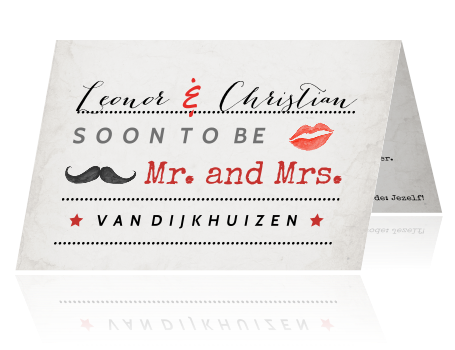 Vintage look wedding announcement typografie