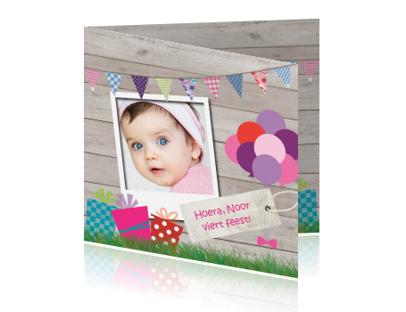Uitnodiging Verjaardag Meisje 1 Jaar