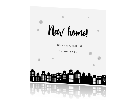 Favoriete Hip design kaart nieuwe woning zwart wit &HL27
