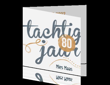 Uitnodiging 80 Jaar Verjaardag Made For Moments