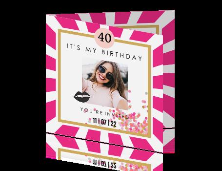 Zeer Vrolijke uitnodiging voor de verjaardag van een vrouw @UF79