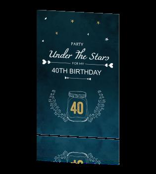 Bedwelming Originele uitnodigingen verjaardag under the stars @KV89