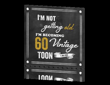 Originele Kaart Verjaardagsfeest 60
