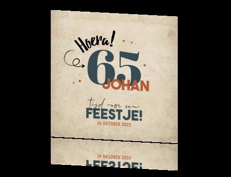 Top Originele uitnodiging 65e verjaardagsfeest @DD37