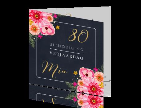 Geliefde Stijlvol en hip design uitnodiging 80 jaar &WP88