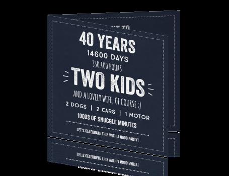 uitnodiging voor 40 jaar Uitnodiging 40 jaar met krijt uitnodiging voor 40 jaar