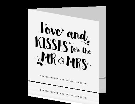 Felicitatiekaart Huwelijk Met Handlettering