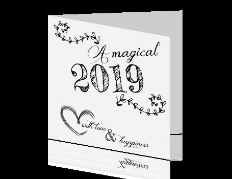 Kleurplaat 60 Jaar Getrouwd Kaart Nieuwjaar 2019 Zwart Wit