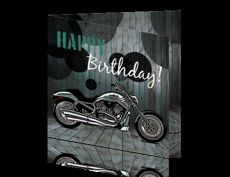 verjaardag man motor