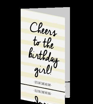 Bekend Frisse verjaardagskaart met leuke tekst &AZ48