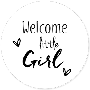 Geboorte sluitegels welcome little girl