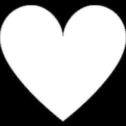 Sluitzegel hartje wit